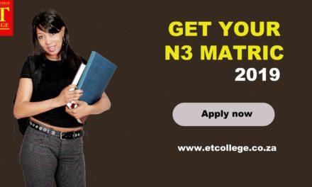 Technical Matric N3 registration open for 2019